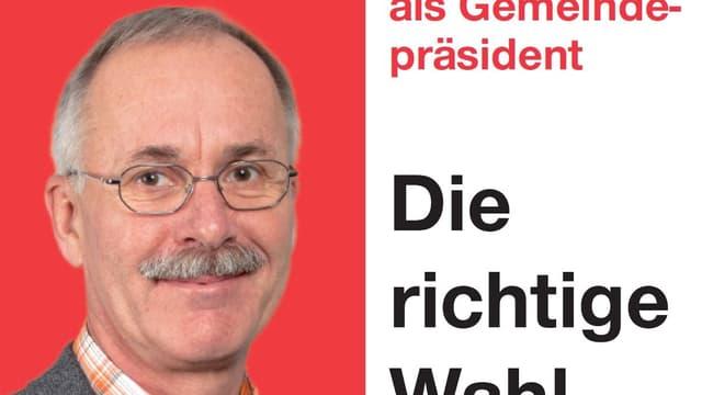 Ausschnitt aus dem Wahlplakat von Stefan Hug.