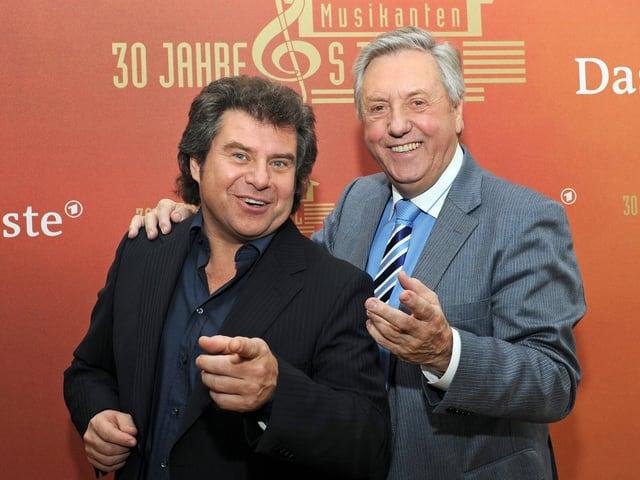 Andy Borg und Karl Moik.