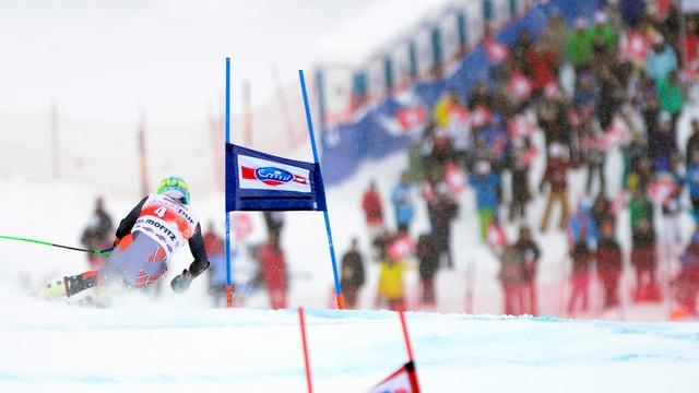 Weltcup-Riesenslalom in St.Moritz.