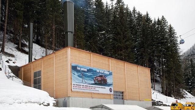 Das Fernwärme-Holzkraftwerk in Adelboden, das seit 2011 in Betrieb ist.