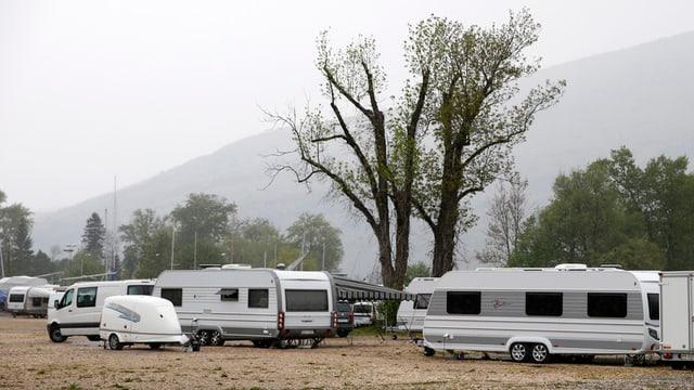 Camp der Fahrenden.