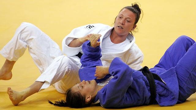 Juliane Robra an der Judo-EM in Budapest.