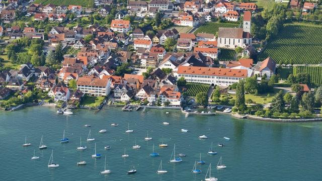 Luftaufnahme von Hagnau am Bodensee