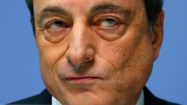 Mario Draghi in Nahaufnahme