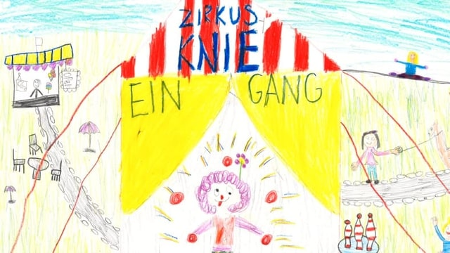 Kinder Zirkus Zeichnung.