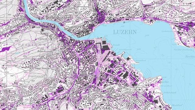 Die Karte auf der Homepage des Geoportals.