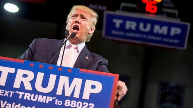 US-Präsidentschaftskandidat spricht an Wahlkampfauftritt zum Parteivolk