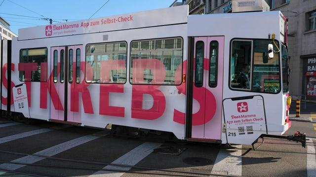 Das «Brustkrebs-Tram»