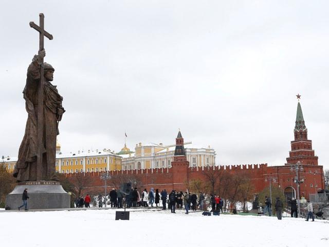 Die Statue des Wladimir I in voller Grösse.
