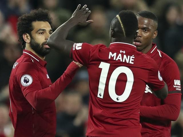 Mohamed Salah und Sadio Mané sichern sich je 2 Treffer.