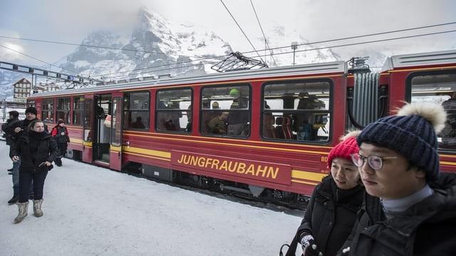 Purtret da la Jungfraubahn.