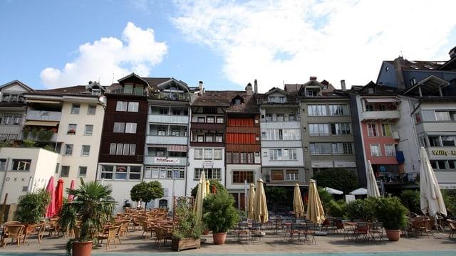 Gartenrestaurant in der Thuner Innenstadt.