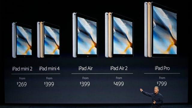 Phil Schiller, Apples Senior Vice President of Worldwide Marketing, bei der Vorstellung des iPad Pro in San Francisco.