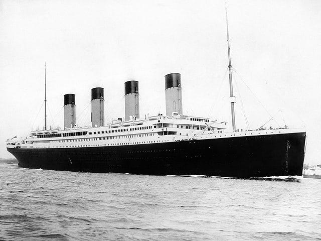 Schwarzweissbild von der Titanic