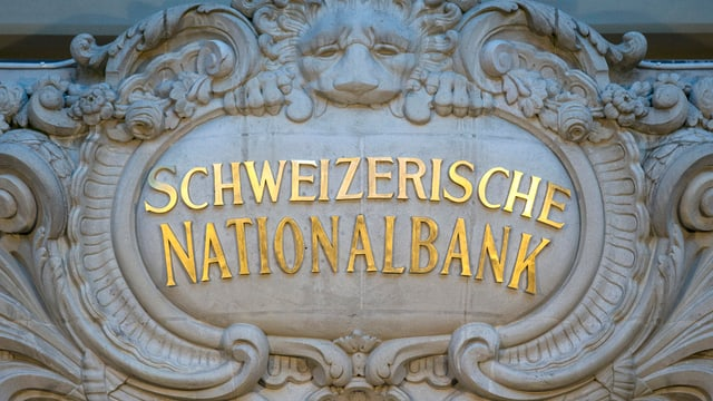 Inscripziun da la Banca naziunala svizra.