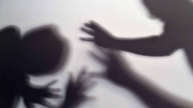 Schattenspiel mit Händen.