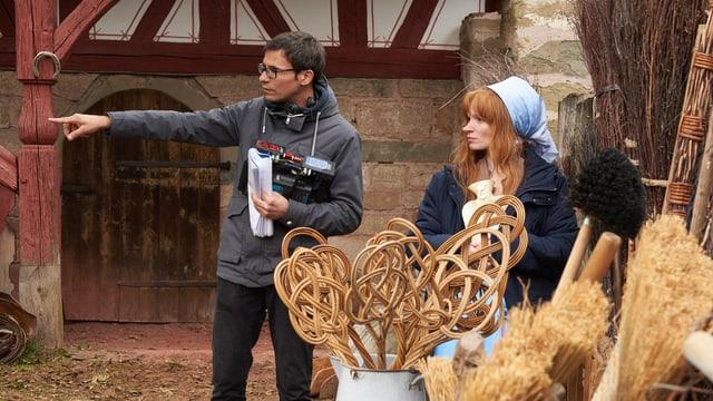 Regisseur Michael Schaerer mit Hauptdarstellerin Karoline Herfurth.