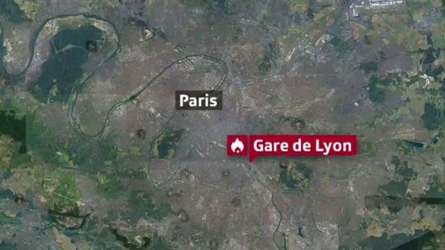 Karte von Paris.