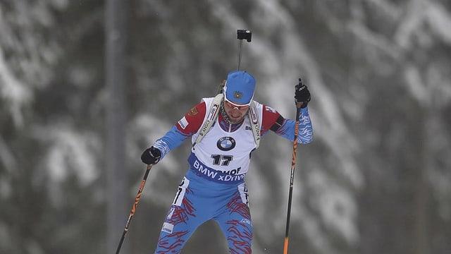 Il biatlet russ Alexander Loginov.