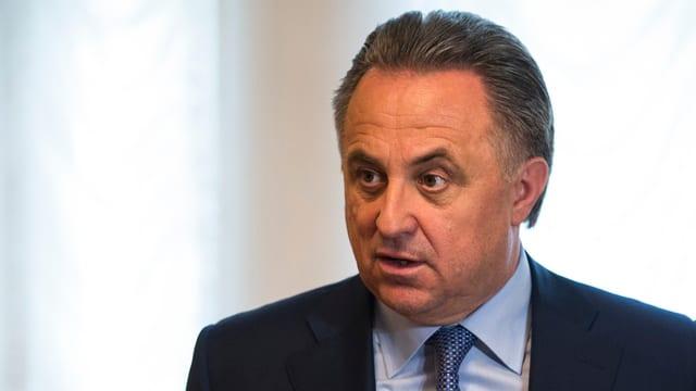 Ein Portrait-Bild des russischen Sportministers Witali Mutko.
