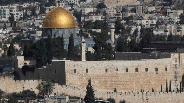 Ina part da Jerusalem cun la cupla dad aur.