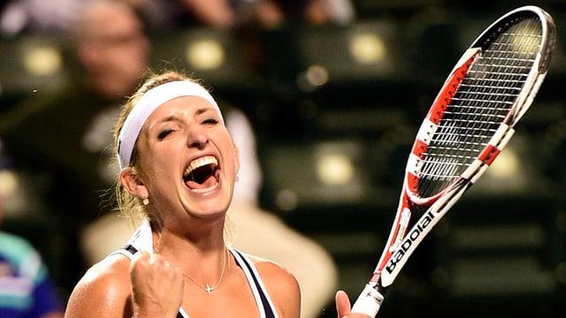 La giugadra da tennis svizra Timea Bacsinsky.