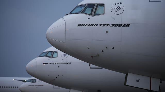 Flugzeugnasen von Boeing 777