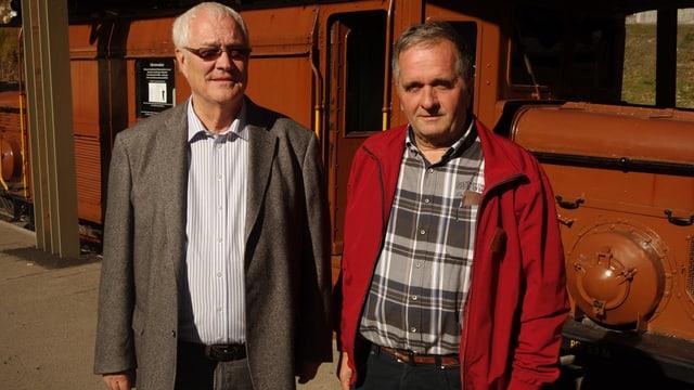 Yves Broggi, il president dal cussegl da fundaziun (sanester) e ses suppleant Walter Sommer.