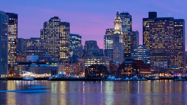 Die Skyline von Boston.