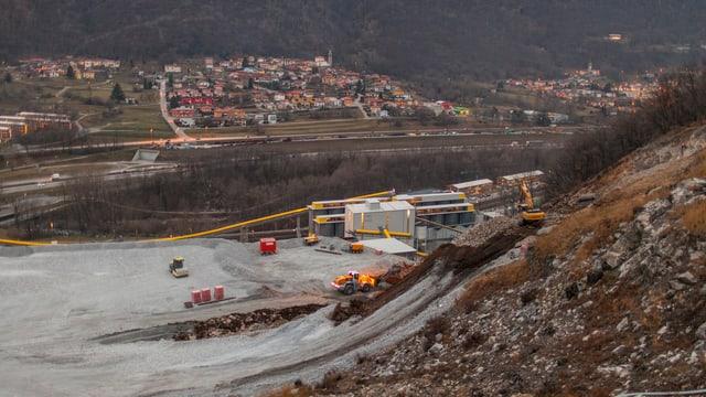 Die Baustelle des Ceneri-Basistunnel im Tessin.