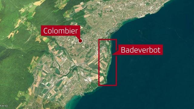 Zwischen der Areuse-Mündung und Colombier haben die Behörden mehrere Strände geschlossen.