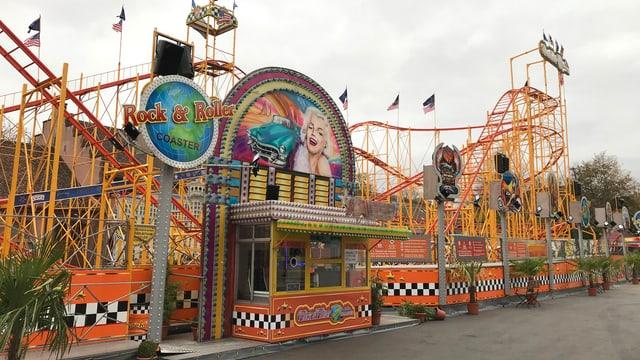 Achterbahn «Rock & Roller Coaster» an der Basler Herbstmesse