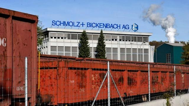 Das Stahlwerk von Schmolz und Bickenbach in Emmen.