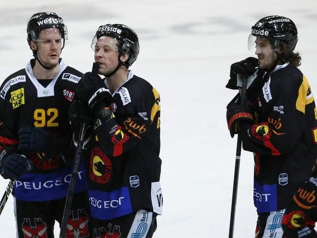 Gaëtan Haas (links) wird den Klub bald wieder in Richtung NHL verlassen.