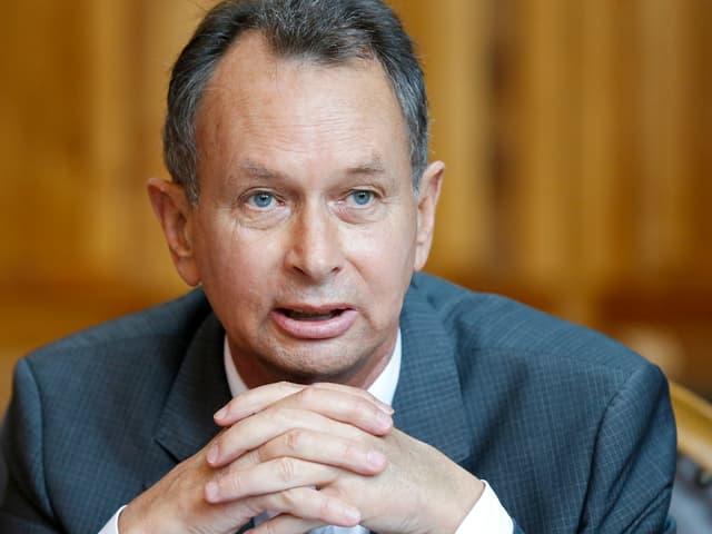 Philipp Müller, Aargauer Ständerat, während einer Session.