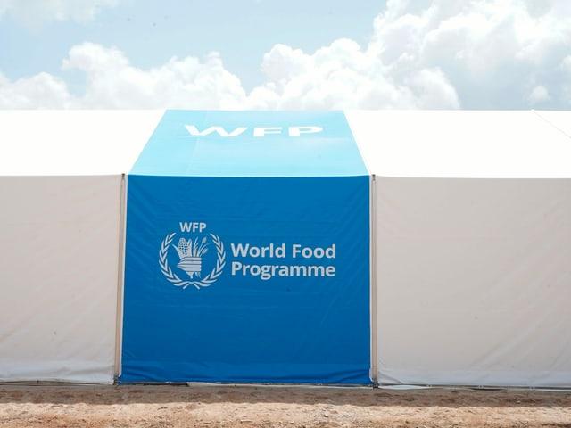 Ein Zelt des Welternährungsprogramms (WFP) im Lager Dadaab in Kenia.