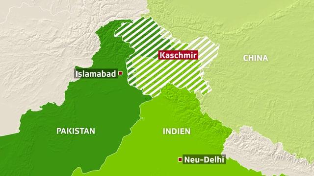 Karte Kaschmir