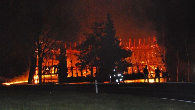 Die brennende Scheune in Malters