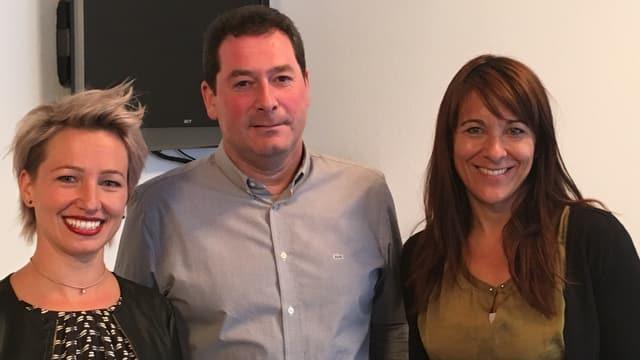 Manuela Kalt, Daniele Misani e Michela Cathieni.