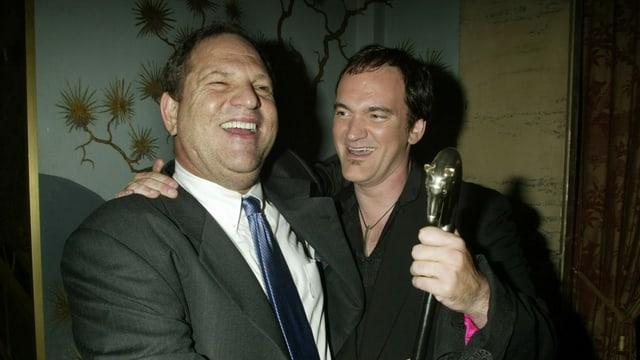 Harvey Weinstein (links) strahlend mit einem seiner Lieblings-Regisseure: Quentin Tarantino.