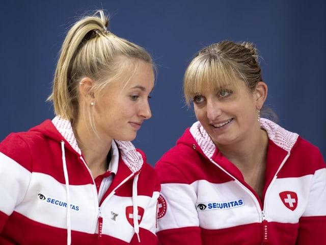 Jil Teichmann und Timea Bacsinszky.