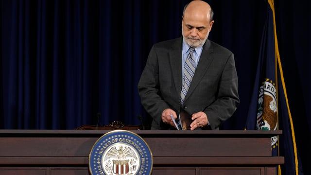 Der Präsident der US-Notenbank Ben Bernanke.
