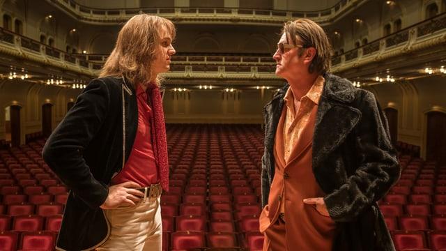 Jan Bülow (links) glänzt als Udo Lindenberg. Hier mit Detlev Buck als sein Entdecker.