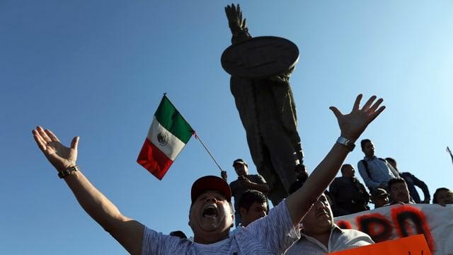 Demonstranten in Tijuana.