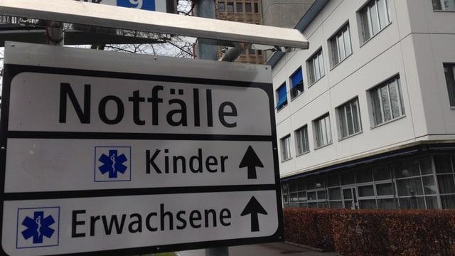 Notfalltafel im Kantonsspital Aarau