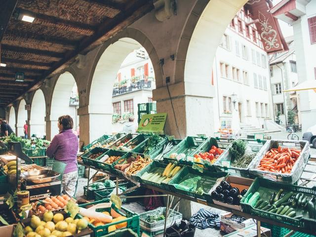 Wochenmarkt in Zofingen