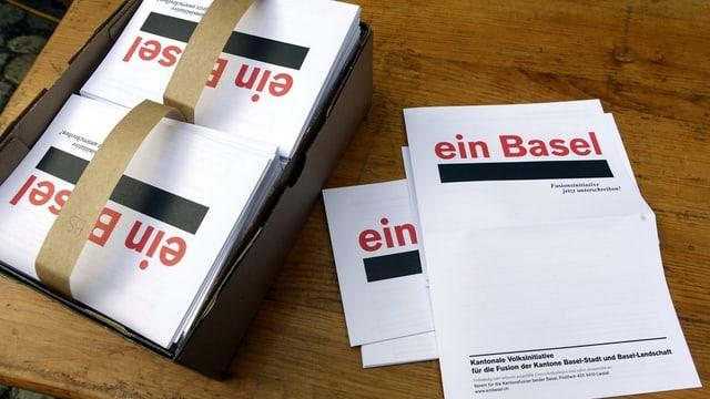 Die Fusionsinitiative beschäftigt die Basler Regierung.