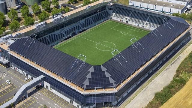Das Stadion des FC Schaffhausen aus der Vogelperspektive
