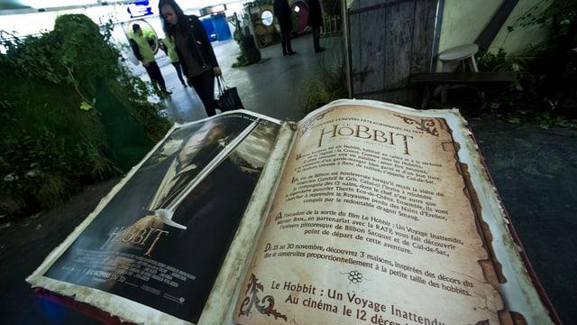 Werbung für den «Hobbit»-Film in der Metro-Station Auber in Paris.