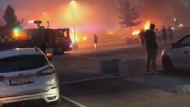 Brennende Autos Screenschot